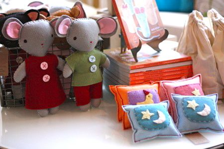 Beautiful felt lovelies from Kata Golda