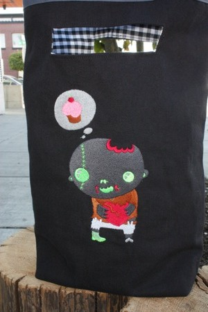 zombie boy dreaming of cupcakes, courtesy of Urban Threads