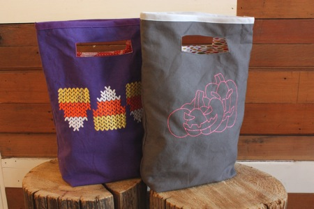 Trick or treat bag: a tutorial modern domestic