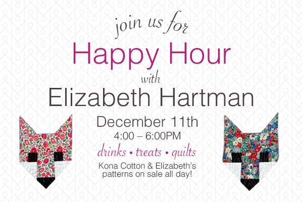 Happy Hour with Elizabeth!