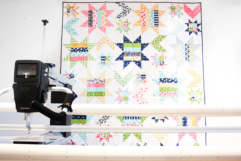 Vanessa Christenson of V and CO Ombre Quilts at Modern Domestic Quilt Gallery