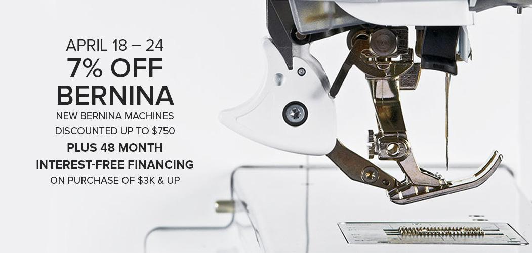 7% off BERNINA MD 7 year anniversary