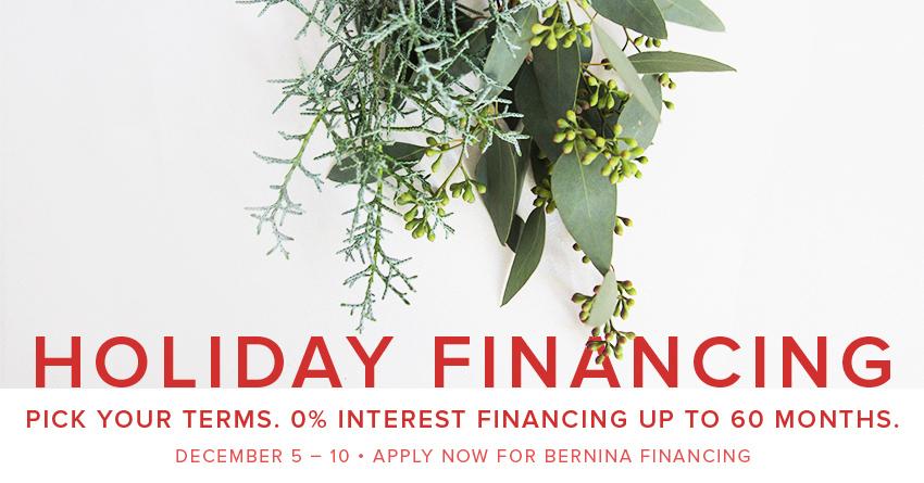 60 month 0% interest financing December 5-10