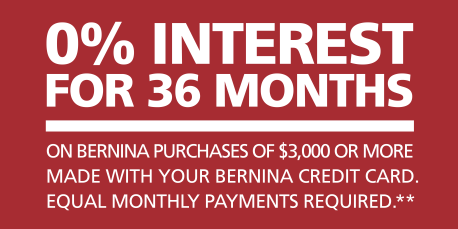 With low monthly payments, all your sewing dreams can come true!