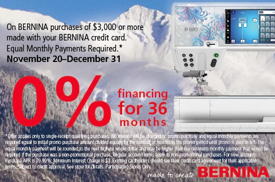 BERNINA Sewing Machine Financing