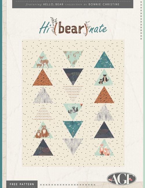 hi bear nate quilt pattern
