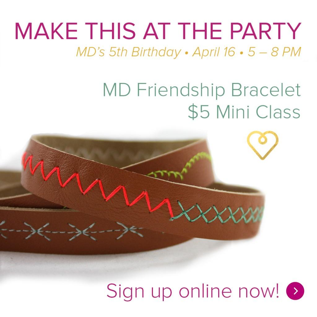Friendship bracelet square