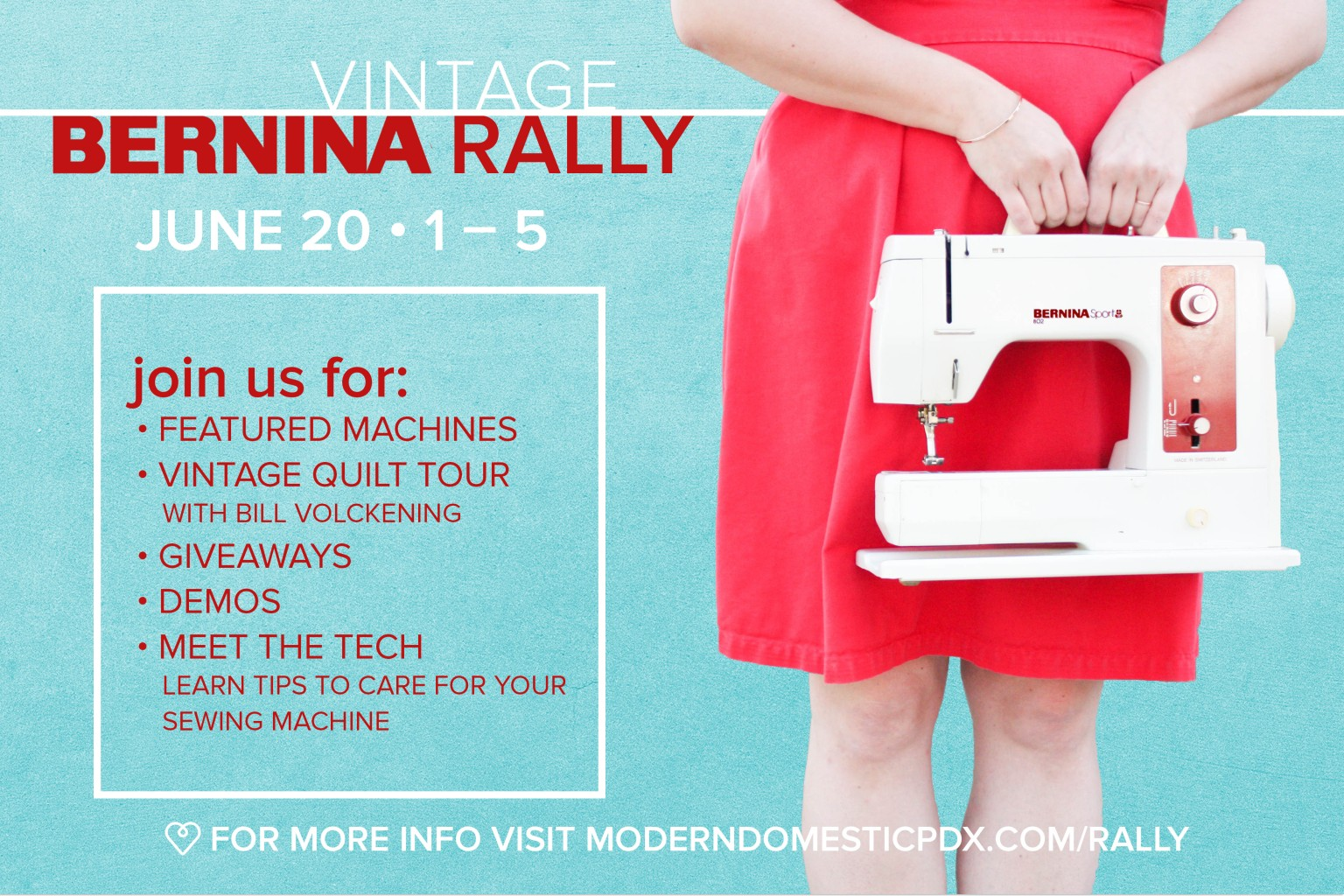 Vintage BERNINA Rally at Modern Domestic