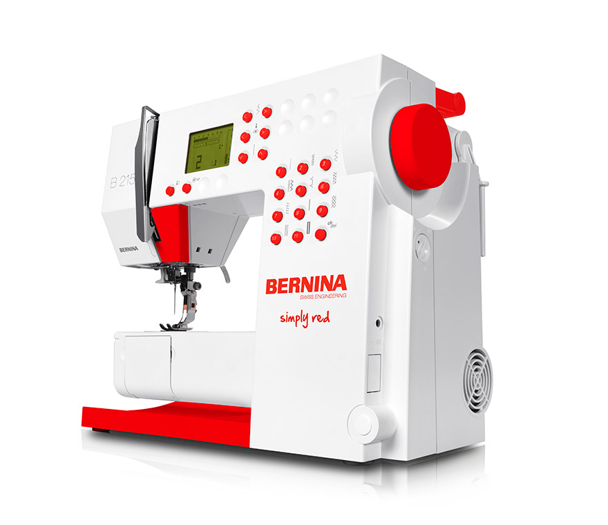 bernina 215 simply red