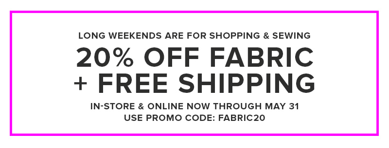 20 off fabric free shipping