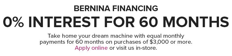60 financing Modern Domestic BERNINA