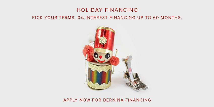 bernina holiday financing at Modern Domestic
