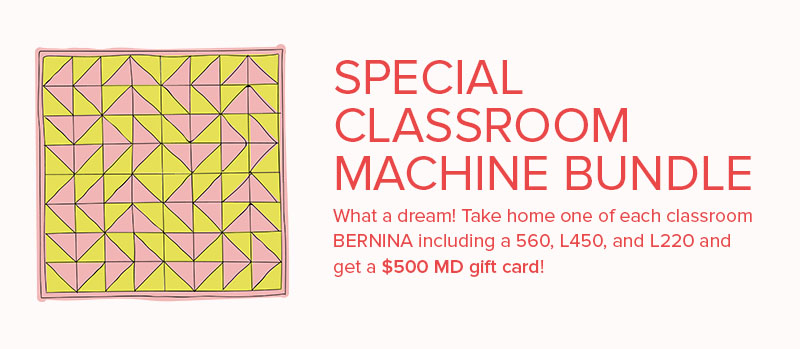 Fall Classroom Sale BUNDLE! Get a $500 gift card with machine purchases.