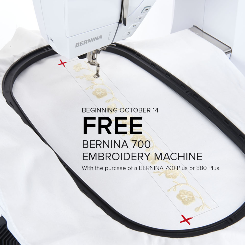 free bernina 700 with purchase at Modern Domestic