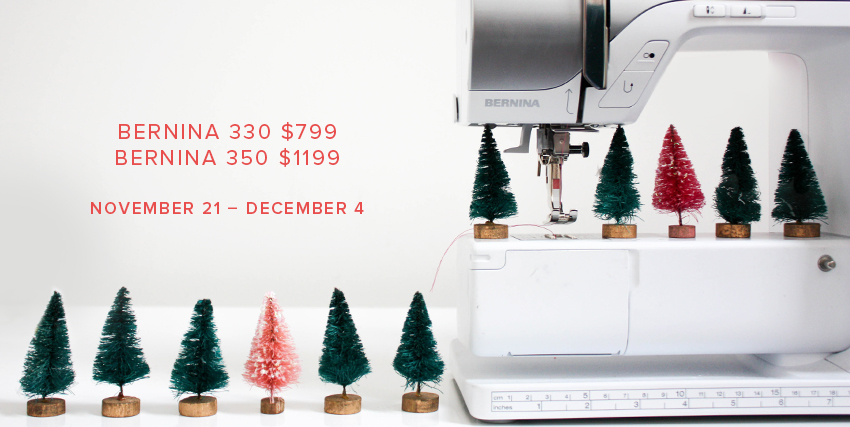 bernina 330 and 350 holiday sale