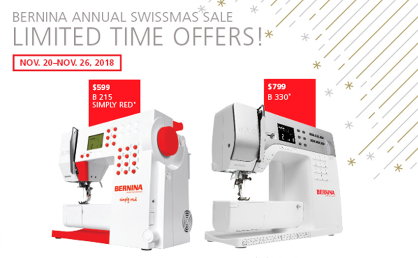 BERNINA 215 and 330 limited time offers at Modern Domestic
