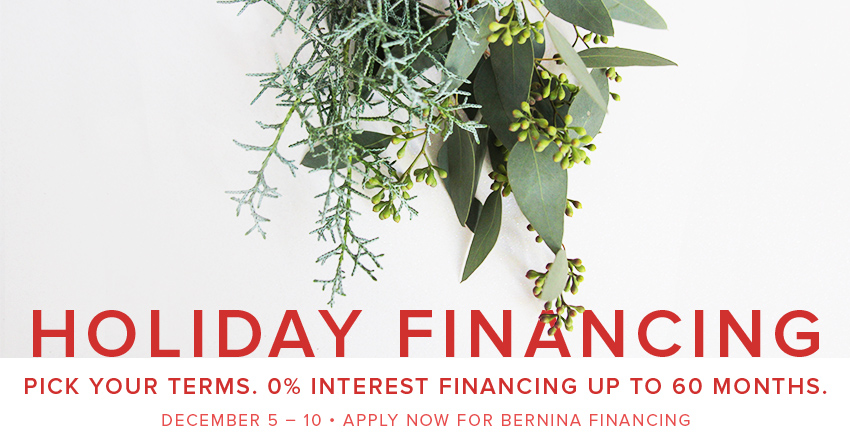 60 month 0% interest financing December 5-10