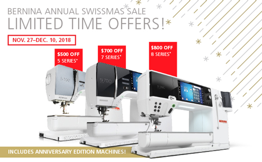 Instant Savings up to $800 off BERNINA