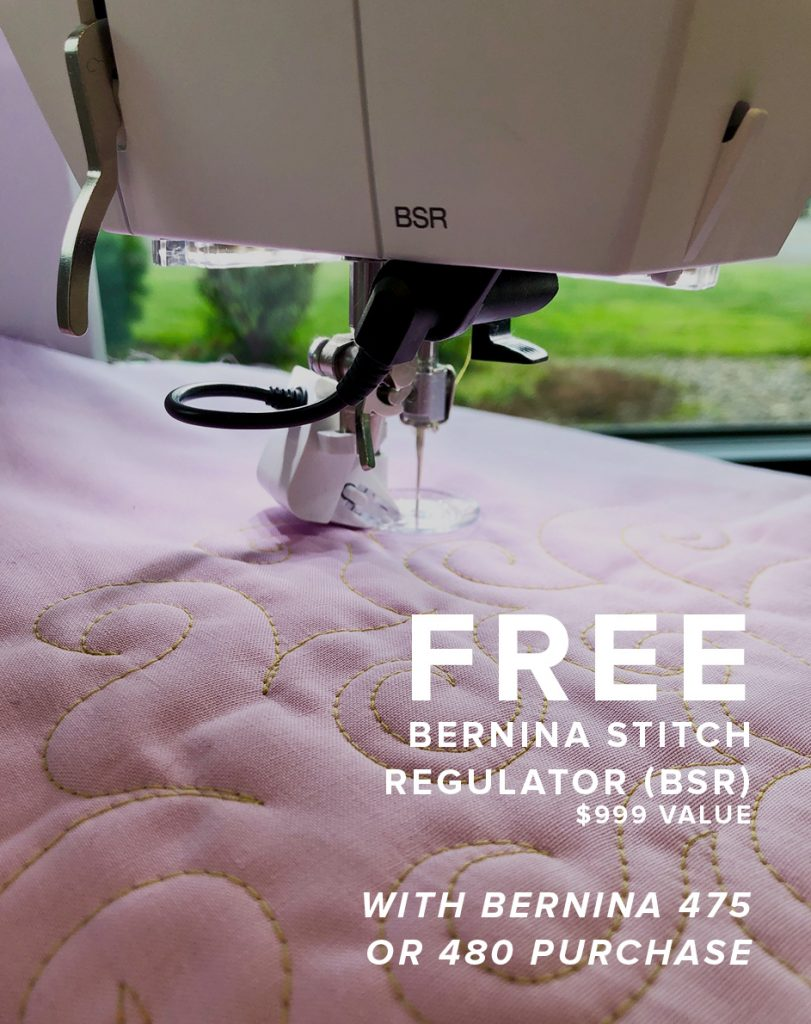 Free BSR with BERNINA 475 or 480 Modern Domestic