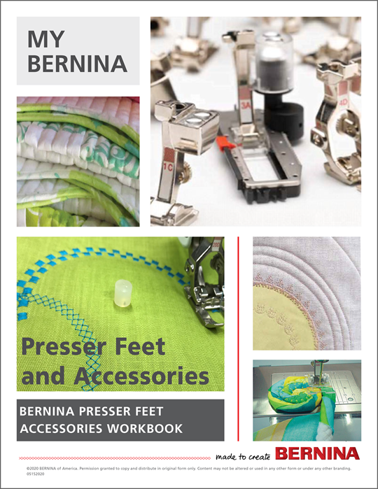 My BERNINA Accessories Mastery Workbook at Modern Domestic Portland, OR