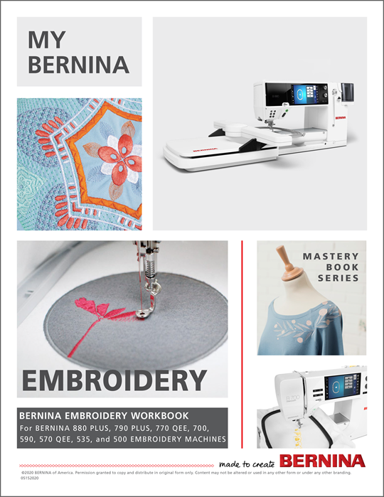 My BERNINA Embroidery Machines Mastery Workbook at Modern Domestic Portland, OR