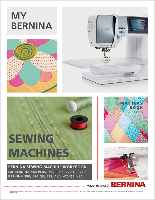 My BERNINA Sewing Machines Mastery Workbook at Modern Domestic Portland, OR